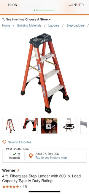Werner 4ft ladder (one side) for Sale in West Valley City, UT