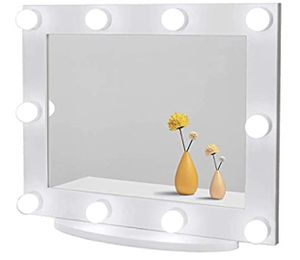 Waneway Hollywood Vanity Mirror with Lights, Large Lighted Makeup Mirror for Dressing Room & Bedroom, Light-up Dressing Table Cosmetic Mirror, Multip for Sale in Los Angeles, CA