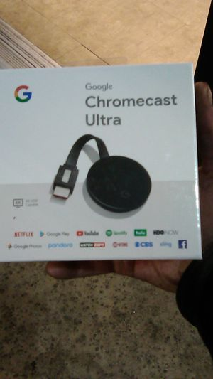 Chromecast ultra 4k set top dongle for Sale in Costa Mesa, CA