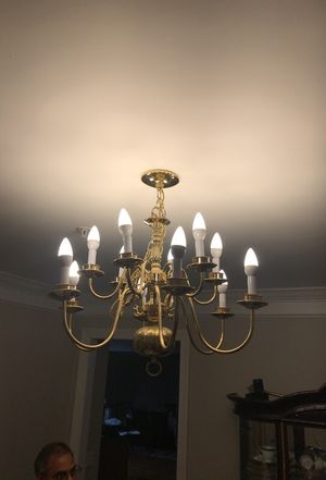 Brass and white beautiful chandelier for Sale in Laurel, MD