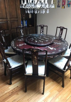Oriental Dining Table with 8 Chairs for Sale in Los Angeles, CA