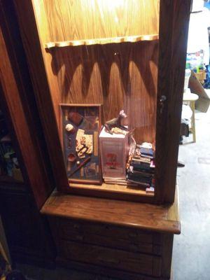 Antique Harrison Locking Gun Cabinet with built-in Light for Sale in Phoenix, AZ
