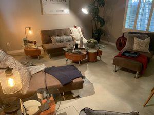 Futon couch set w/ottomans for Sale in Phoenix, AZ