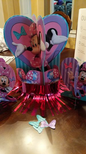 Minnie birthday party supplies for Sale in Spring, TX