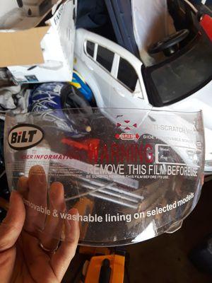 New Bilt motorcycle clear helmet visor for Sale in Suisun City, CA