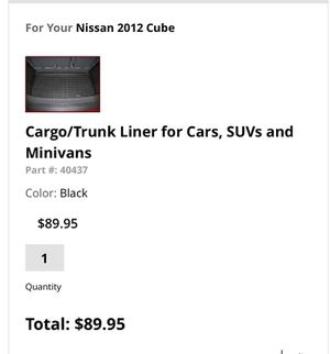 Nissan Cube weathertech cover front, back and cargo mat for Sale in San Francisco, CA