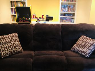 Sofa (recliner) and Rocker Recliner Chair (Dark Brown) for Sale in Nashville,  TN
