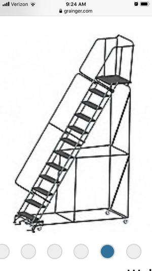 13ft 12 step rolling ladder for Sale in OH, US