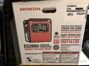 EG2800i Honda Generator BRAND NEW for Sale in Tacoma, WA