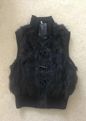 leather - fur vest , size S-M for Sale in Falls Church, VA