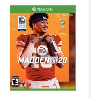 Madden 20 (XBOX ONE) for Sale in Avondale, AZ