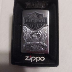 VINTAGE ZIPPO LIGHTER BRAND NEW HARLEY DAVIDSON PEWTER EAGLE MADE IN THE USA for Sale in Brooklyn, OH