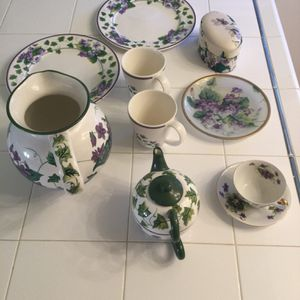 Collection of Waverly Sweet Violet plates pitcher teacup for Sale in Santa Maria, CA