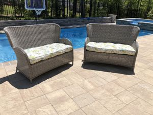 Pier 1 Settee Love Seat Chair Couch Outdoor Furniture for Sale in Apex, NC