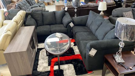 🌺💗Ashley Darcy Black New Sofa & Loveseat Couch Livingroom set N0 credit check 🚚same day delivery😎 for Sale in Houston,  TX