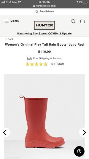 Hunter Rain Boots Size 6 for Sale in El Paso, TX