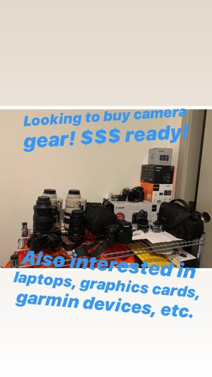 Camera Gear, Bodies and lenses, canon, Sony, fujifilm for Sale in Las Vegas, NV