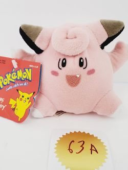 """Vintage 1998 Clefairy #35 Pokemon Nintendo 4"""" Plush Stuffed Doll Toy Collectible for Sale in Brooklyn,  NY"""