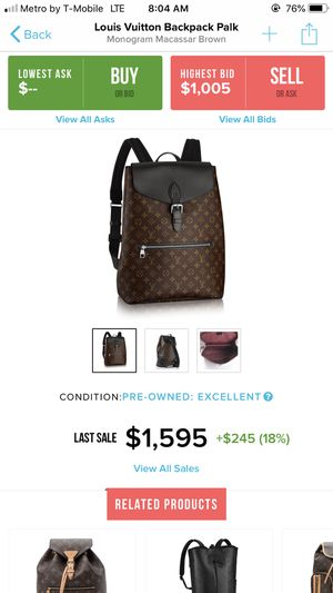 Louis Vuitton backpack for Sale in Spring Valley, CA