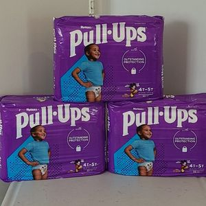 $10 EACH Huggies Pull- Ups Boys Potty Training Pants Size 4t-5t Count 33 (NEW) for Sale in Rancho Cucamonga, CA