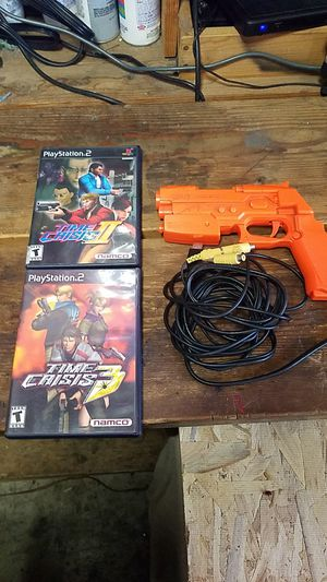 Time crisis games with guncon for ps2 for Sale in Ontario, CA