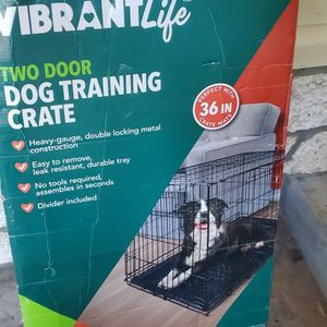 Two Door Dog Training Crate Large 36 In for Sale in Orlando, FL