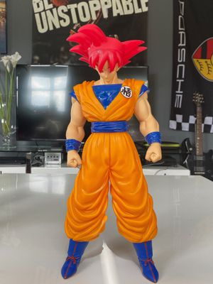 "GIANT 15"" RARE* SSJ GOD RED GOKU SUPER FIGURE DRAGON BALL Z (VERY TALL!) DBZ DBS for Sale in Miami Beach, FL"