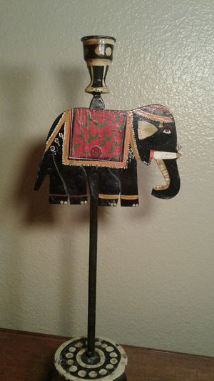 Metal elephant candle holder for Sale in Tempe, AZ