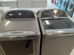 Whirlpool washer and electric dryer good condition 90 days warranty for Sale in Mount Rainier, MD