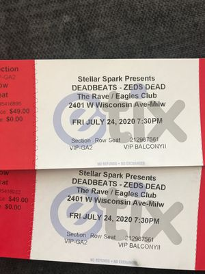 Zeds Dead VIP tickets for Sale in Plainfield, IL