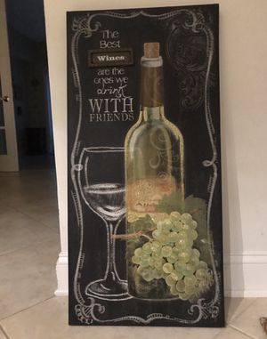 Canvas wine frame for Sale in Coral Gables, FL