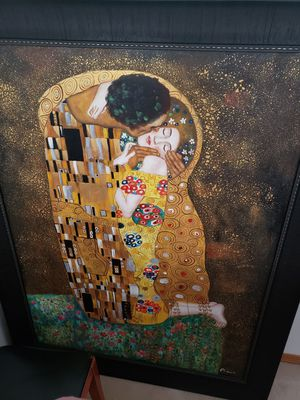 Free Canvas painting The Kiss 43x55 for Sale in Richland, WA