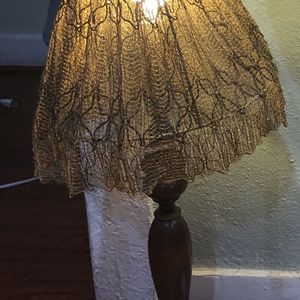 Vintage Lace And Wood Lamp for Sale in Los Angeles, CA
