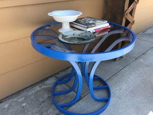 Mid Century / Hollywood Regency Painted chrome and glass table for Sale in Salt Lake City, UT
