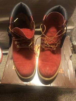 Special Edition Timberlands men's size 11 red for Sale in Chicago, IL