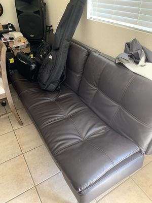 Used Leather Futon for Sale in Jurupa Valley, CA