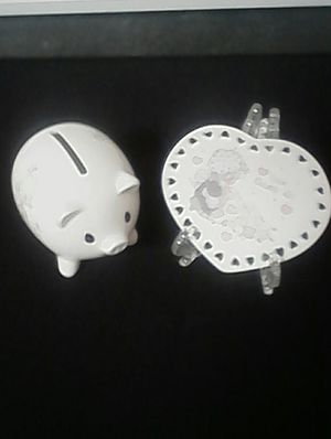 Precious Moments. A Small Pig And A Heart Plate . for Sale in Loganville, GA