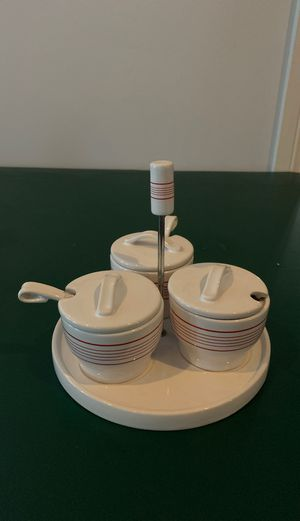 Pottery Barn ceramic condiment server for Sale in Fort Lauderdale, FL