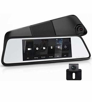 AUTO-VOX M8 Touch Screen Mirror Dash Cam,1296P FHD Front Rear View Mirror Camera and 180°Horizontal View Angle Backup Camera Kit with Lane Departure for Sale in Lorton, VA