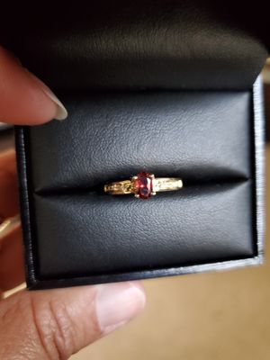 Beautiful 10K Garnet Ring Size 6 for Sale in Virginia Beach, VA