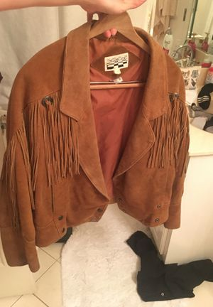 Leather jacket with fringe for Sale in Franklin, TN
