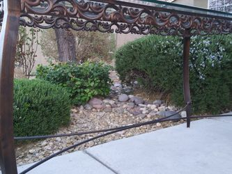 """Ornate Iron Table, 1/2"""" thick glass top for Sale in Las Vegas,  NV"""