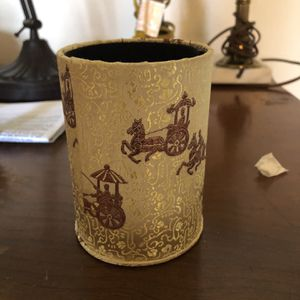 Asian fabric covered cup chariots for Sale in Vancouver, WA