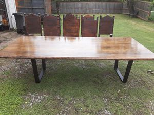9 ft solid beach wood dinner table for Sale in Dallas, TX