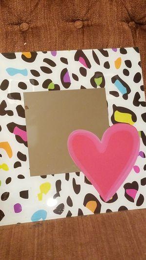 Rainbow color cheetah heart wall mirror for Sale in Canoga Park, CA