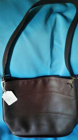 Coach Chocolate Leather Handbag for Sale in BELLEAIR BLF, FL