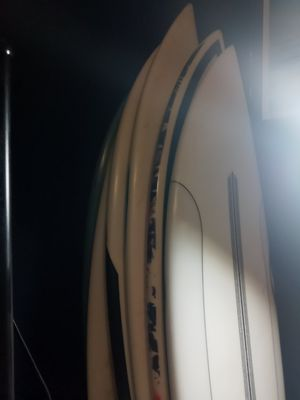 Channel island, Sharpeye surfboards...2 electric guitars. Full wetsuits for Sale in Pomona, CA