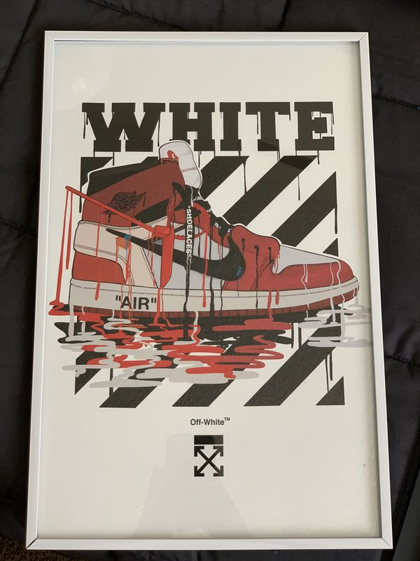 Nike Off-white Print And Poster In Glass Frame