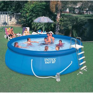 """Intex 15' x 48"""" Inflatable Easy Set Above Ground Swimming Pool w/ Ladder & Pump for Sale in McDonald, PA"""