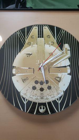 Millennium falcon wall clock for Sale in Los Angeles, CA